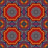 Cadre sans couture de modèle de patchwork Illustration de Vecteur