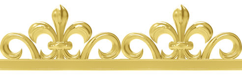 Cadre sans couture de vintage d'or d'isolement sur le blanc Photo stock