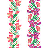 Cadre sans joint de fleur illustration de vecteur