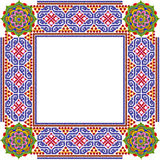 Cadre simple carré de photo de mandalas Photographie stock