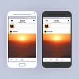 Cadre social de réseau Design de l'interface d'APP Photo partageant l'application illustration stock