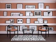 cadre sur le mur dans la chambre Image libre de droits
