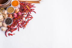 Cadre thaïlandais des textes d'épices Photo stock