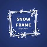 Cadre tiré par la main d'hiver Élément pour votre conception de Noël Image libre de droits