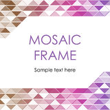Cadre triangulaire de mosaïque Images stock