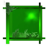 Cadre vert Photos libres de droits