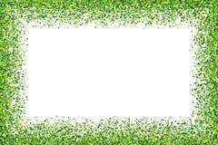 Cadre vert d'isolement sur le fond blanc Photo libre de droits