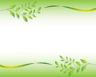 Cadre vert de lame Images stock