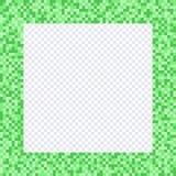 Cadre vert de pixel, frontières illustration stock
