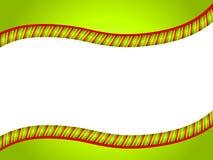 Cadre vert de Swoosh de canne de sucrerie Photo stock