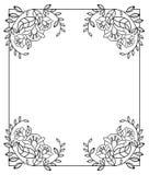 Cadre vertical élégant avec des découpes des fleurs o Photos stock