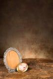 Cadre vide baroque antique de photo images stock