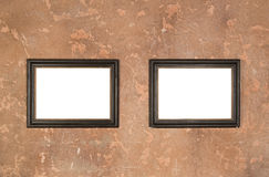 Cadre vide de brun du vintage deux photo stock