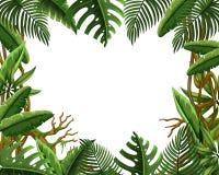 Cadre vide de congé de jungle illustration libre de droits