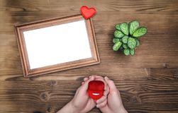 Cadre vide de photo pour l'amour un Photo stock