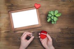 Cadre vide de photo pour l'amour un Photos stock