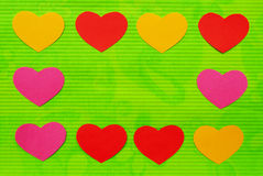 Cadre vide de trame de coeur d'amour. Image libre de droits
