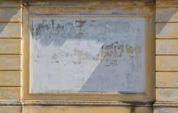 Cadre vide sur la façade Photographie stock