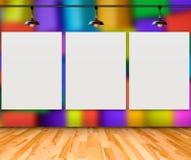 Cadre vide sur le mur coloré de boîte pour le message de l'information Images libres de droits