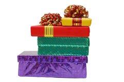 Cadres avec des cadeaux photographie stock libre de droits