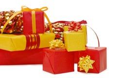 Cadres avec des cadeaux image libre de droits