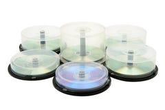 Cadres avec le disque de DVD Photo libre de droits