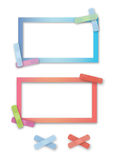 Cadres band-aid brillamment colorés illustration de vecteur