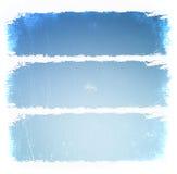 Cadres bleus grunges Images libres de droits