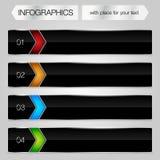 Cadres brillants en métal de conception moderne pour le graphique d'infos Images libres de droits