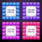 Cadres carrés cteative de bijoux de résumé se composant des blocs en cristal lumineux colorés illustration de vecteur