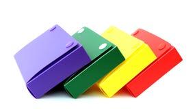 Cadres colorés d'école Photo libre de droits