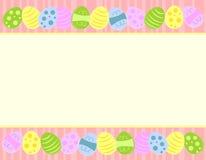 Cadres colorés d'oeufs de pâques