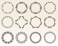 Cadres décoratifs de cercle Images stock