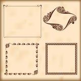 Cadres décoratifs de vecteur.  Éléments pour la conception. Images libres de droits