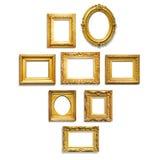 Cadres d'or Photo libre de droits