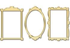 Cadres d'or image libre de droits
