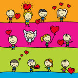 Cadres d'amour Images stock