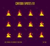 Cadres d'animation ou lutins du feu Images stock