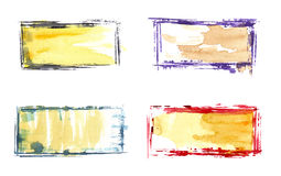 Cadres 3 d'aquarelle Image libre de droits