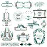 Cadres d'Art Deco Vintage Images stock