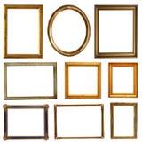 Cadres d'or vides Photographie stock libre de droits