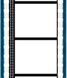 Cadres de bande sonore de film de cinéma d'isolement Photo stock