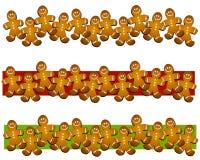 Cadres de biscuit d'homme de pain d'épice Photographie stock