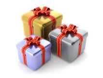 Cadres de cadeau Photos stock
