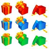 Cadres de cadeau. Images libres de droits