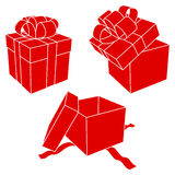 Cadres de cadeau. Photos stock