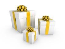 Cadres de cadeau illustration libre de droits