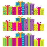 Cadres de cadeau Images libres de droits
