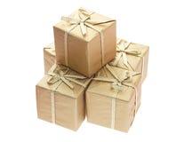 Cadres de cadeau avec des bandes de proue image libre de droits