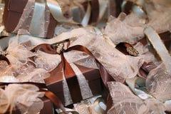 Cadres de cadeau avec la bande de lacet Photo libre de droits